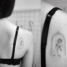 Beauty and the Beast  #beautyandthebeast #rosetattoo #tattoo #tattoos #ink #hongdam #tattooisthongdam #미녀와야수 #장미타투 #타투 #홍담 #타투이스트홍담