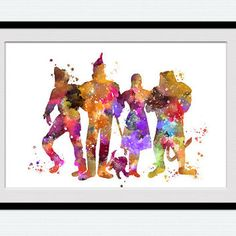 The Wizard of Oz watercolor art print Wizard of Oz colorful poster Tin Man decor Home decoration Kids room decor Nursery room wall art W501