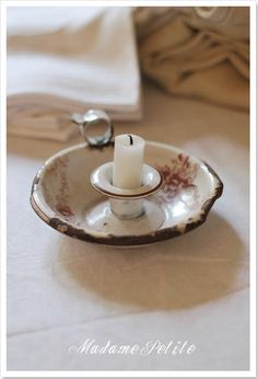 lovely enamel candle holder