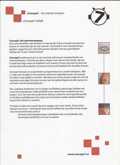 Concept7 sheet uit 2003