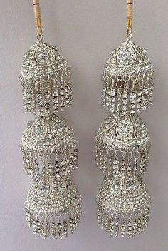 Amazing-Indian-Asian-Wedding-Bridal-Kaleera-Kalira-Silver-with-Diamonds