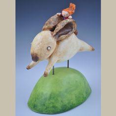 Anne Klocko Ceramic Sculpture Bunny's Dream