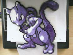 Hama Mewtwo by ~tony-boi on deviantART perler bead design