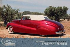It's time for Chapter 11 in our Custom Car History Lesson! In Chapter 10 we had a look at George Barris' first real custom a 1936 Ford 3-window coupe that he restyled around 1940-1941. Around the same time the first customs featuring fadeaway fenders started to pop up on the scene. George liked the fadeaway fender look and it became one of Barris Kustom's trademarks in the 1940s. George meant that giving a car fadeaway fenders sat it apart and stamped it as a kustom. One of the first known…