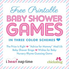 I have a super fun set of free printables for you today!! A set of five baby shower games that I designed in THREE color schemes. With a set in pink, a set in blue, and a set in neutral yellow and green, I've got ...