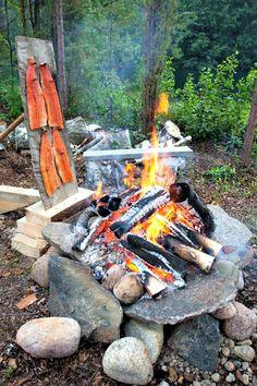 #finland #salmon #campfire #outdoors