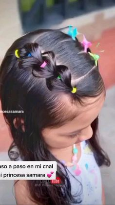 Easy Little Girl Hairstyles, Kids Curly Hairstyles, Cute Toddler Girl Hairstyles, Disney Hairstyles, Mixed Girl Hairstyles, Girl Hair Dos, Rose Gold Hair, Short Hair Styles, Kids Hair Styles