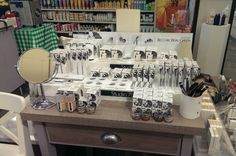 Makeup display of Studio 78 Paris at Wholefoods in Glasgow