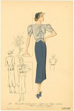 1930s Fashion for Women & Girls | Pictures, Advertisements & Prices. Love the detail in the shirt.