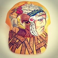 Gorra personalizada - cap custom- águila e indio