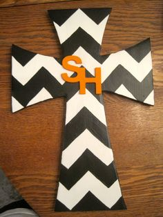 Black & White Chevron Sam Houston State by iGottaHaveItAll on Etsy, $20.00