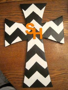 Black & White Chevron Sam Houston State by iGottaHaveItAll on Etsy, $20.00