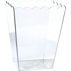 Large CLEAR Plastic Scalloped Container Party City