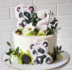 Dolphin Birthday Cakes, Birthday Drip Cake, Buttercream Cake, Fondant Cakes, Cupcake Cakes, Cake Frosting Designs, Panda Cakes, Naked Cakes, Gingerbread Cake