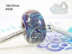 Handmade Large Hole  Borosilicate Glass Bead by TheGlassCavern on Etsy