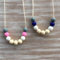 Silicone Teething Necklace for Mom / Nursing by NomNomNecklaces
