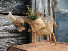 What a sweet ol' Goat....from Cane River Crafts on Etsy :)