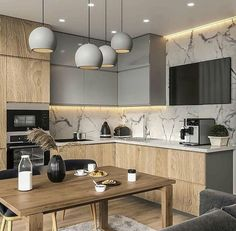 Kitchen Interior Design Unbeatable two tone kitchen cabinets wood and white Two Tone Kitchen Cabinets, Contemporary Kitchen Cabinets, Modern Kitchen Interiors, Kitchen Cabinet Colors, Interior Modern, Interior Ideas, Modern Kitchens, Kitchen Cupboard, Small Kitchens