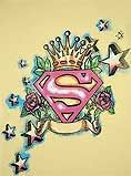 Superman Logo & Crown with Stars Tattoo Desing -  Idon't know why, but I realy like this!