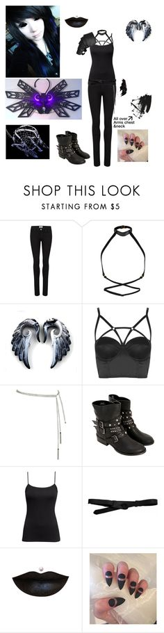 """""""Social Repose- Yalta"""" by evangeline-purdy-girl ❤ liked on Polyvore featuring Paige Denim, Zana Bayne, Topshop, H&M and Lowie"""