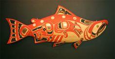photo of Dog Salmon Stan Wamiss Native American Artwork, Native American Design, Native Design, American Indian Art, Arte Haida, Haida Art, Art Assignments, Tlingit, Indigenous Art