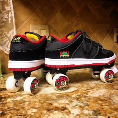 CALI Strong Roller Skates are here! Limited Edition Custom made by Lance Lynn with our CALI Strong Hollywood Rasta Skate Shoe & matching CALI Strong Skate Wheels. Only at our Westfield Mission Valley Store 144 in San Diego. Peter Tosh, Robert Nesta, Nesta Marley, Skate Wheels, Skates, Bob Marley, Cali, Classic Style