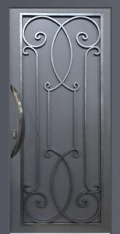 PORTES D'ENTREE Metal Doors Design, Door Gate Design, Railing Design, Iron Gate Design, Main Entrance Door Design, Window Grill Design Modern, Entrance Gates Design, Iron Decor, Wrought Iron Wall Decor