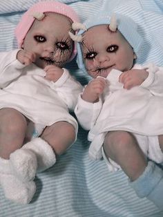 ooak Krypt Kiddies  evil twins