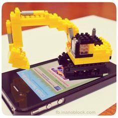 Tiny nanoblock excavator =) ... my latest creation ... http://fb.inanoblock.com for more