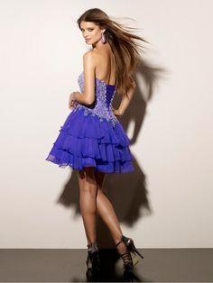 2012 Style A-line Sweetheart  Beading  Sleeveless Short / Mini  Chiffon Cocktail Dress / Homecoming Dress