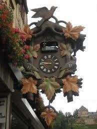 Cuckoo clock in Sankt Goar, Germany. My Aunt was stationed in Germany for years and brought back a ton of these. Love them!