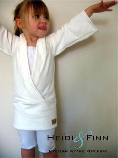 Urban Kimono Sweater pattern and tutorial 12m - 5t PDF EASY SEW wrap top tunic. $6.00, via Etsy.
