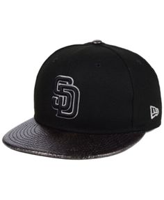 6fcc2048e1dae New Era San Diego Padres Snakeskin Sleek 59FIFTY Fitted Cap - Black 7 3 4