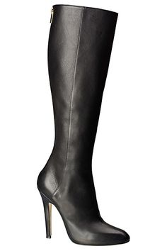 Jimmy Choo Black Leather High Heeled Boots Pre-Fall 2012 #Shoes #Choos #Heels