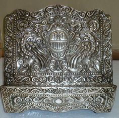 superbig genuine colonial spanish repousse, Lectern bible, silver sterling 19th