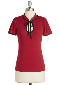 Tops - Make the Most of It Top in Scarlet