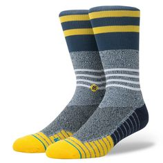 59774e15e Designer: Stance Color: Grey The Lunar Crew is so functional that you'll  think they are from another planet. This fusion athletic sock features  moisture- ...