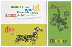 Sharon Werner's Alphabeastie designs. You can buy ABC books and cards. Very fun.