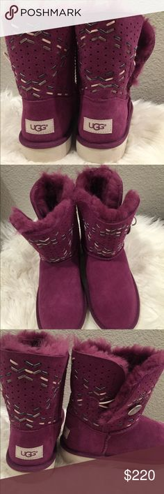 NWT rare raspberry uggs New with tags. Gorgeous raspberry colored uggs. Perfect for the upcoming holidays!!! Authentication stickler still in place. UGG Shoes