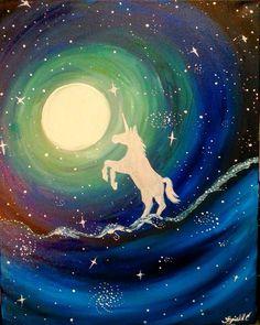 Paint Nite. Unicorn Sky