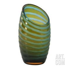 Small Angle Cut Chiseled Vase Home Accessories at Art.com