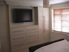 wardrobe design with tv section   Gallery - Residential - Bedrooms & Wardrobes