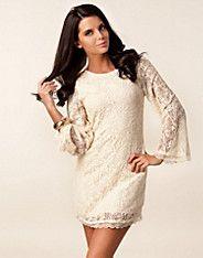Love Lace! Faine Dress - Ax Paris - Cream - Party dresses - Clothing - NELLY.COM UK