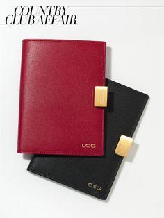 monogrammed passport covers (Smythson)