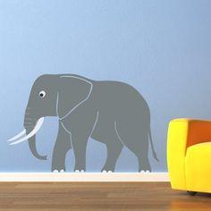 Cute Elephant Decal Vinyl Wall Art  by StephenEdwardGraphic, $32.00