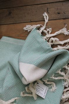 hammam towel. Martha. green herringbone