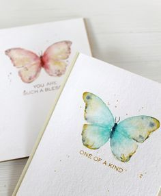 Watercolor with stamps via Stamp Away With Me VIDEO: More Flora & Fauna 2
