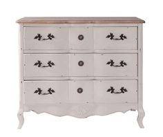 Looking for stylish storage solutions? Browse our range of white bedroom furniture & pine, oak & mirrored chests of drawers. 3 Drawer Chest, Chest Of Drawers, Pine Bedroom Furniture, Muebles Living, White Bedroom, Belle Epoque, Storage Solutions, Dresser, Shabby