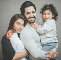 complete family picture of Ayeza Khan and Danish Taimoor with their daughter Hoorain and newly born son Rayan MashaAllah ❤ Muslim Family, Muslim Couples, Muslim Men, Cute Family, Beautiful Family, Beautiful Pictures, Romantic Couples, Cute Couples, Wedding Couples
