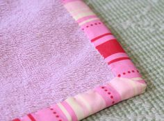 Bath mat from 2 old towels.